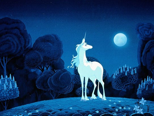 """Kids of all ages will be charmed by """"The Last Unicorn."""""""