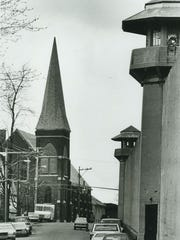 At right, Auburn Correctional Facility