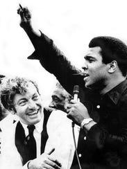 Muhammad Ali, the heavyweight boxing champion of the