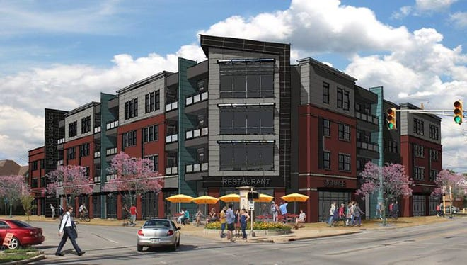 At the northeast corner of 22nd and Delaware streets, a four-story apartment building and mixed-use commercial space could help Fall Creek Place climb further up the charts.