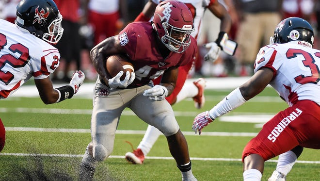 MBA running back Ty Chandler (44) as been named a candidate for the 2016 All-USA Offensive Player of the Year award.