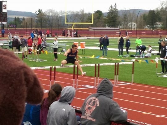 Kayshawn Stroman of Susquehanna Valley High shown competing in a meet this season at Sidney.