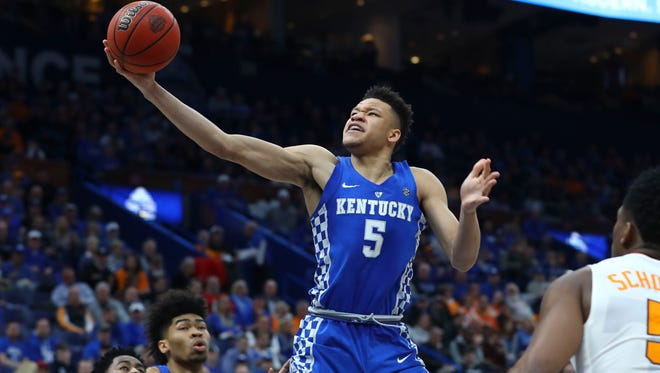 12. Clippers (42-40, via Pistons): F Kevin Knox, 6-9, 215, Kentucky