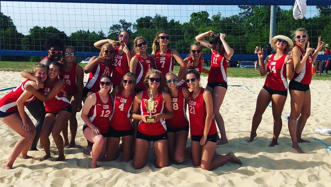 Leon's beach volleyball team captured a city title with a win over Chiles on May 3 at Tom Brown Park.