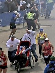 Kris and her handicapped daughter Kayla flee attack at Boston Marathon.
