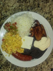 Grab a tray and get breakfast at Sazon Latino in Boonton