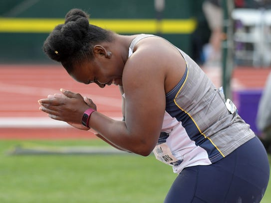 Danniel Thomas of Kent State reacts after winning the