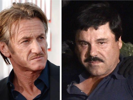 Sean Penn, drug kingpin Joaquin 'El Chapo' Guzman,