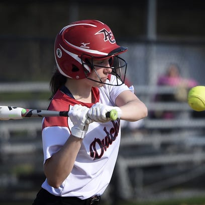 Annville-Cleona's Morgan Zimmerman takes a swing at