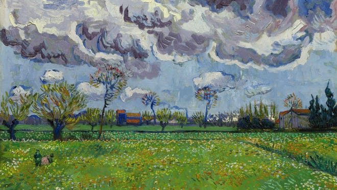 Sotheby's estimates 'Landscape Under a Stormy Sky,' by Vincent van Gogh, could sell for between $50 and $70 million.