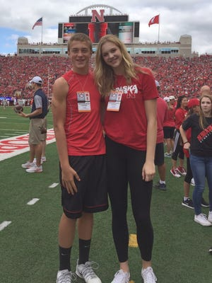 Riley Zuhn and brother Trey pose for a photo during an unofficial visit to Nebraska where she eventually chose to play volleyball.