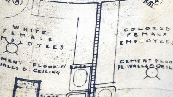 Yorktowne Hotel blueprints from 1924 show employee