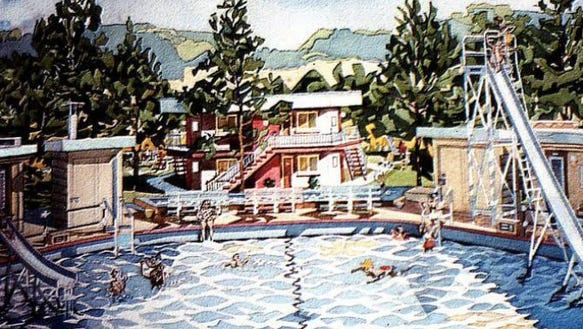 From the trip down memory lane gallery: The Playland Pool in Springettsbury Township. (Cliff Satterthwaite, artist).