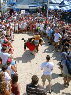 The Starboard's Running of the Bull will be held Saturday morning in Dewey Beach.