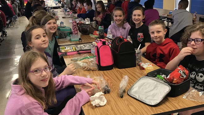 A group of students at Mayes Elementary enjoy lunch in this photo from 2019. Both Sherman and Denison Independent School Districts announced that they will provide free lunch and breakfast to all students for the 2021-2022 school year.