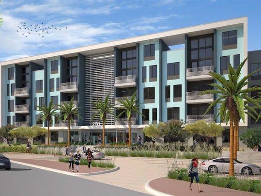 salt apartment complex under construction near tempe town lake