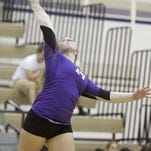 Jordan Dragonov played a key role on defense for Fowlerville in Wednesday's volleyball win.