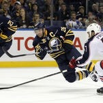 Thomas Vanek scored 254 goals and assisted on 243 others in the 598 games he played for the Sabres.