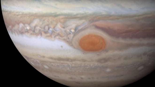 Jupiter's Great Red Spot is getting smaller, NASA scientists announced this week.