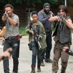Rick (Andrew Lincoln) and the survivors face more challenges on the road in the second half of the fifth season.