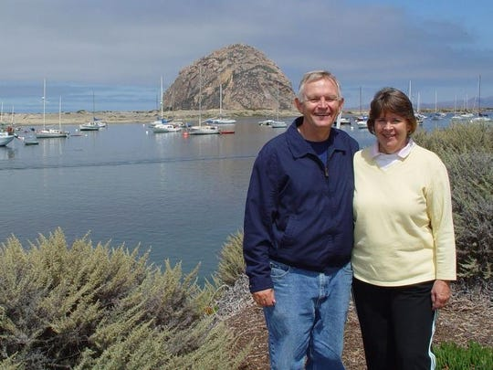 Mike and Debbie Bowen of Visalia are pictured at Morro Bay on the Central Coast.