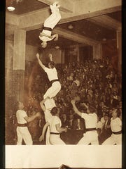 The Gauchos, perhaps one of the greatest acts Schultz developed, included: Ray Thielen, Eugene Rosinsky, Ray Rosinsky, Gordon Powaliscz, Richard Rosinsky, Bernard Armstrong, Harvey Rosinsky and Clarence Albrecht. Their five-high summersault is recorded in the Guinness Book of World Records.