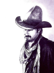 Electra artist Mary Cardwell loves to draw in pencil. This is one of her works and one you're likely to see at Cowboy True this weekend at the J.S. Bridwell Agricultural Center.