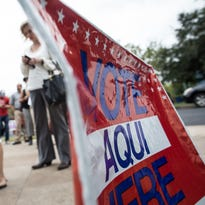 Voters in Texas wait in line to cast their ballots last November.
