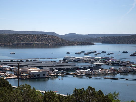 The newly expanded Navajo Lake Marina features a new