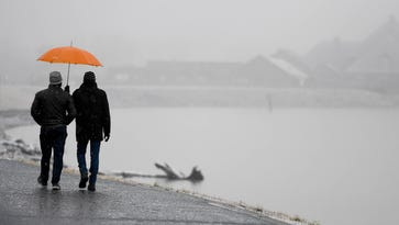 Saturday snow to yield to warmer, but wet, weather