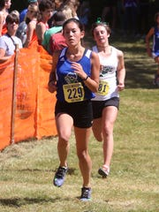 Kyra Doloughty of Colchester competes at the Essex Invitational on Saturday.
