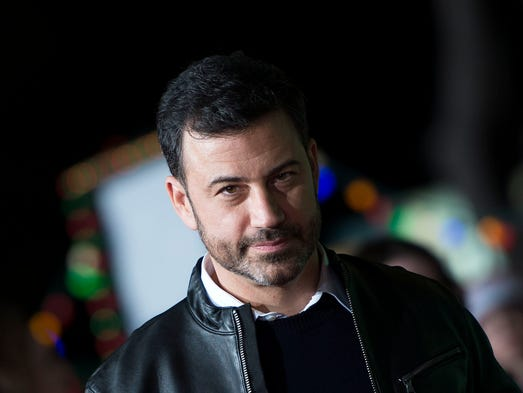 """Jimmy Kimmel arrives for the premiere of """"Office Christmas"""