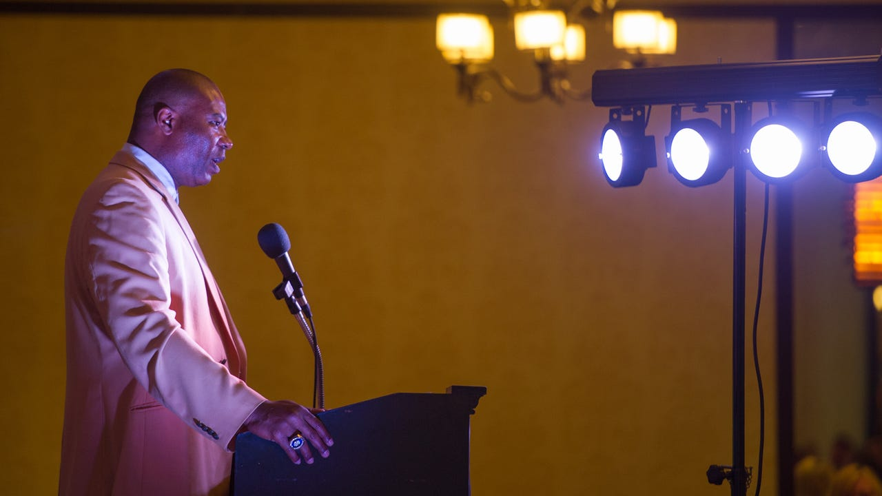 William Penn graduate and NFL Hall of Famer Chris Doleman delivered a speech of perseverance to the athletes at GameTimePA's Athletes of the Year Awards Banquet, Sunday, June, 4.