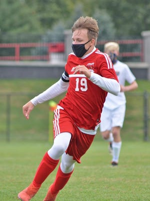 Coldwater senior captain Brady Travelbee earned First Team All Conference Soccer honors for the 2020 season.