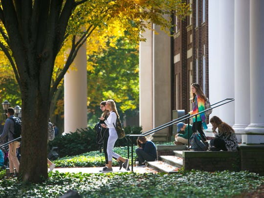 Enrollment is up at the University of Delaware by 765 students.
