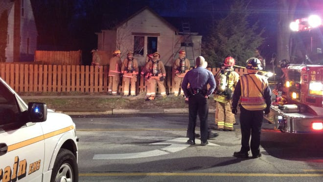 Crews at fire in the 2400 block of Galbraith Road in Colerain Township. The fire knocked down but hot spots remain.