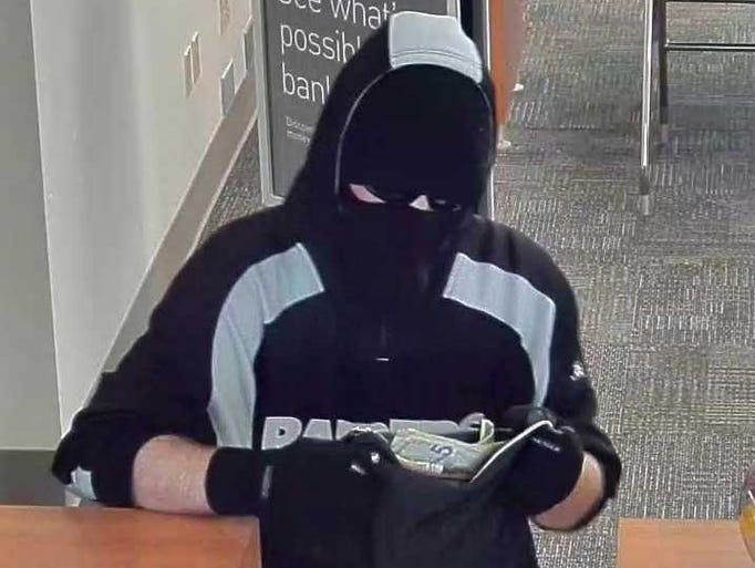 Bank robbery suspect in Port St. Lucie Sept. 14, 107.