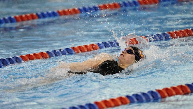 Sophomore Peyten Lyons of Palmyra has been a leader for the Ursinus College women's swim team.