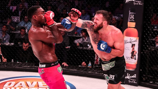 McQueen grad Ryan Bader beat Phil Davis in June. Bader defends his title on Friday.