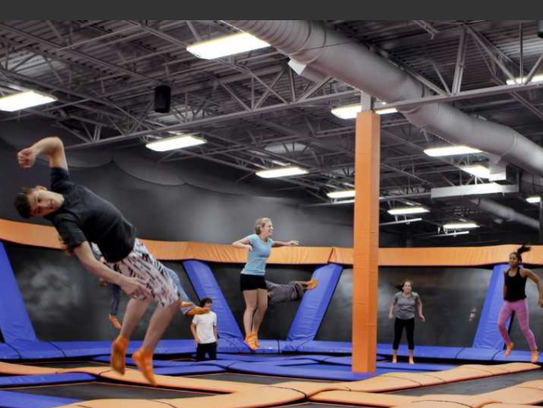 Everybody can jump with their own styles on the trampolines