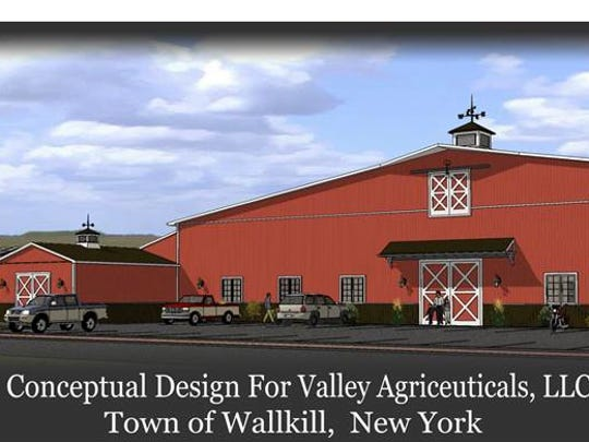 A conseptual design by Cirillo Architects P.C. of the proposed $10 million medical marijuana grow facility in the Town of Wallkill. Valley Agriceuticals LLC plans to build it on 70 acres of farmland at Dosen and Cortright roads in Orange County.