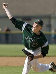 Southside's Brad Bellinger pitches against EFA in 2010.