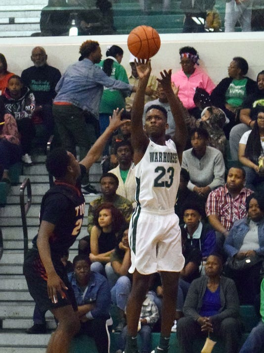 Peabody Magnet High School met Tioga High School in the Hall of Fame Game held Saturday, Feb. 17, 2018 at the Emerald Palace. Peabody won 60-54.