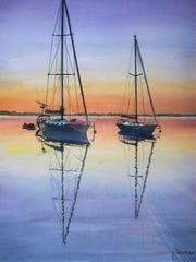 """Serenity"" by Pensacola artist Richard Morrison, 90."