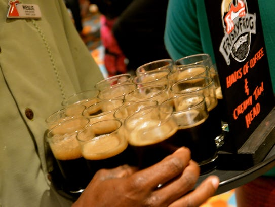 A homemade Java Stout at the Red Frog Pub & Brewery
