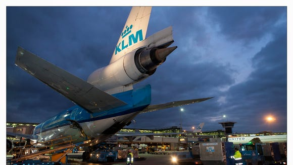 KLM's final MD-11 is seen after its final revenue passenger