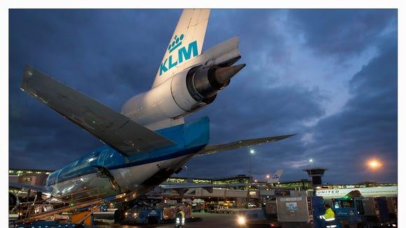 KLM's final MD-11 is seen after its final revenue passenger