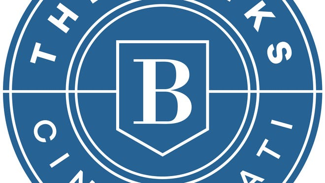 A new logo for The Banks development in Downtown Cincinnati.