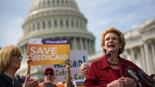 Sen. Debbie Stabenow, D-Mich., speaks Tuesday in opposition to the Graham-Cassidy health care bill. Drew Angerer/Getty Images 854178236.jpg WASHINGTON, DC - SEPTEMBER 26: Sen. Debbie Stabenow (D-MI) speaks during a news conference in opposition to the Graham-Cassidy health care bill, September 26, 2017 in Washington, DC. The Graham-Cassidy bill, the GOP's latest effort to repeal the Affordable Care Act (ACA), is in peril after Sen. Susan Collins (R-ME) announced her opposition to the bill on Monday night. (Photo by Drew Angerer/Getty Images)