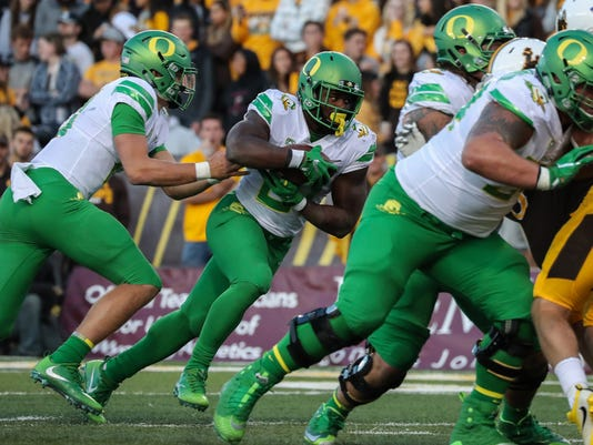NCAA Football: Oregon at Wyoming